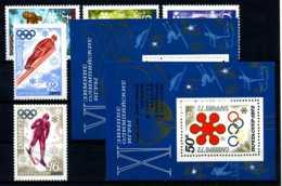 E09891)Olympia 72, UDSSR 3979/83** + Bl 74** + 75** - Winter 1972: Sapporo