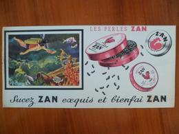 Buvard  Sucez ZAN Exquis Et Bienfaizan - Buvards, Protège-cahiers Illustrés