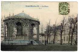 Saint - Nicolas - Waes. Le Parc. Saint Nicolas Waes En Flandre Orientale. Carte Colorisée De 1901. **** - Sint-Niklaas