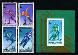 E12917)Olympia 80, Bulgarien 2824/7** + Bl 94** - Winter 1980: Lake Placid