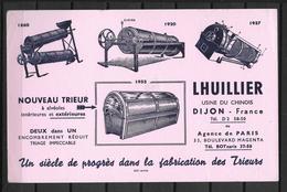 BUVARD FABRICATION DE TRIEURS LHUILLIER USINE DU CHINOIS A DIJON COTE D'OR - Buvards, Protège-cahiers Illustrés