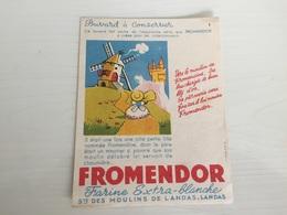 Buvard Ancien FARINE FROMENDOR DES MOULINS LANDAS 1 - Buvards, Protège-cahiers Illustrés