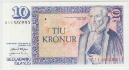 Iceland 10 Kronur 1961 Pick 48 UNC Sign1 - Iceland