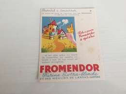 Buvard Ancien FARINE FROMENDOR DES MOULINS LANDAS 10 - Buvards, Protège-cahiers Illustrés