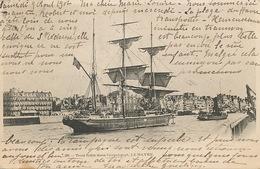 Trois Mats Dans L' Avant Port Du Havre . Norway Ship . 1902 - Norvège