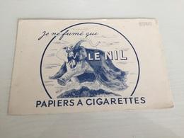 Buvard Ancien PAPIER À CIGARETTES LE NIL JE NE FUME QUE LE NIL - Tabac & Cigarettes