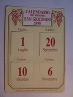 """Cartolina Viaggiata  Pubblicitaria """"CALENDARIO PRO MEMORIA SAN GIOCONDO 1990  - VINI ANTINORI"""" Firma Marchese Antinori - Vigne"""