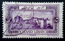 1925 Grand Liban Yt 60  Grand Liban - Landscapes .Sidon . Oblitéré Used - Grand Liban (1924-1945)
