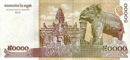 Cambodia P.61  50000 Riels 2013  Unc - Cambogia