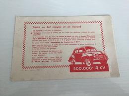 Buvard Ancien VOITURE ANCIENNE 4 CV - Automobile