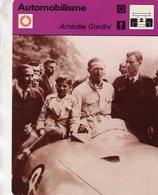 Amedee Gordini  -  Pilote Et Ingenieur  -  Bois De Boulogne 1945  -  Fiche Automobilsme - Grand Prix / F1