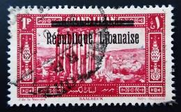 1927 Grand Liban Yt 86 .Landscapes With Overprint Republique Libanaise. Baalbeck. Oblitéré Used - Grand Liban (1924-1945)