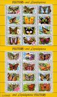 Romania - 1991 - Butterflies - 2 Mint Souvenir Sheets - 1948-.... Republics