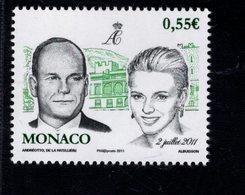689208520 MONACO 2011 POSTFRIS MINT NEVER HINGED POSTFRISCH EINWANDFREI SCOTT  2636 WEDDING ALBERT II AND CHARLENE - Monaco