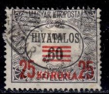 H+ Ungarn 1922 Mi 10 16 Dienstmarken - Officials