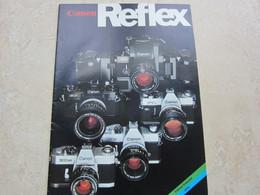Catalogue Publicité CANON REFLEX Edition Française 1976 - Matériel & Accessoires