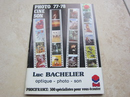 Catalogue Publicité Photo Ciné Son 1977/1978 - Matériel & Accessoires