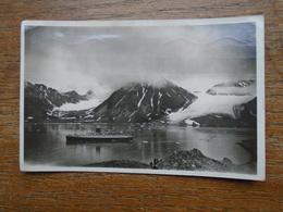 Carte Assez Rare , Norvège , Magdalena Bay , Côté Nord Et Le Paquebot Lafayette - Noorwegen