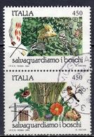 I+ Italien 1984 Mi 1880 1882 Naturschutz - 1981-90: Afgestempeld