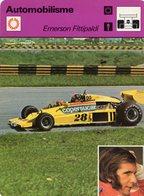 Emerson Fittipaldi  -  Pilote De Course F1 -  Copersucar   -  Fiche Automobilisme - Grand Prix / F1