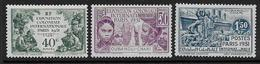 OUBANGUI CHARI - N°  84 - 85 - 87 ** - Cote : 31,50 € - Oubangui (1915-1936)