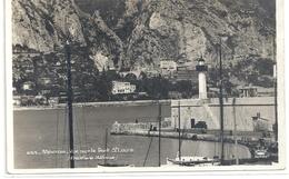 CARTE-GLACEE FORMAT CPA.. MENTON . VUE SUR LE PONT St. LOUIS ( FRONTIERA ITALIANA )AFFR LE 26-7-1938 . 2 SCANES - Menton