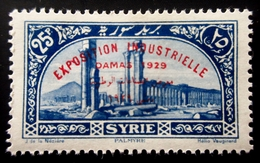 1929 Syrie Yt 198.  Industrial Exhibition In Damascus . PALMYRE .  Neuf Trace Charnière - Syrie (1919-1945)