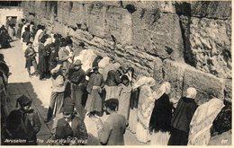 9638. CPA JERUSALEM. THE JEWS WAILING WALL - Autres