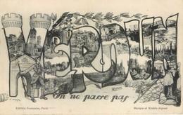 CPA Patriotique VERDUN ON NE PASSE PAS Militaria Guerre 1914-1918 Meuse Bombardement Bataille Tranchée - Guerra 1914-18