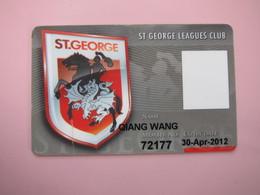 Australia ST. George Leagues Club Card, With A Tear - Phonecards