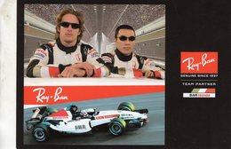Jenson Button - Takuma Sato  -  Bar-Honda F1 Team 2004  -  Carte Promo - Grand Prix / F1