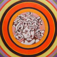 Dipinto Ad Olio Su Carta. Ritratto Immaginario. - Oils