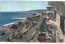 NICE -  LA PROMENADE DES ANGLAIS . CARTE AFFR AU VERSO LE 1er MAI 1964 . 2 SCANES - Nizza