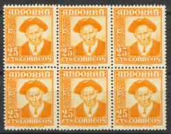 Andorra  1953. Conseller General 25 Cts (**) Bloque 6 - Andorra Española