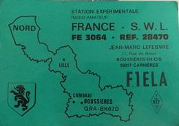 France Carte QSL Radio Amateur Scan R/ V - Radio