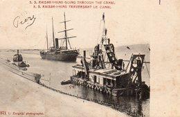9659. CPA SUEZ. S.S. KAISER-I-HIND TRAVERSANT LE CANAL - Israel
