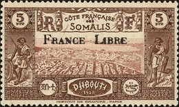 Somali Coast Scott #220, 1943, Hinged - Côte Française Des Somalis (1894-1967)