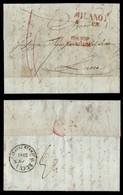 ANTICHI STATI - LOMBARDO VENETO - Milano 5 Gen. (1851) + Franco Frontiera + 6 Di Tassa - Lettera Per Lucca - Non Classificati