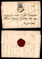 ANTICHI STATI - LOMBARDO VENETO - Verona 22.1 (1855) - Secondo Giorno D'uso - 45 Cent (12b-azzurro Grigio) Isolato Su Le - Francobolli