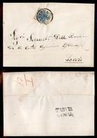 ANTICHI STATI - LOMBARDO VENETO - 45 Cent (17-carta A Coste) - Lettera Da Mantova A Tarvisio Del 7.5.54 - Francobolli