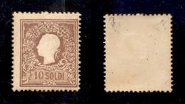 ANTICHI STATI - LOMBARDO VENETO - 1858 - 10 Soldi (26-primo Tipo) - Gomma Integra - Cert. AG (4.000) - Non Classificati