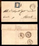 ANTICHI STATI - LOMBARDO VENETO - Bergamo (P.ti 5) Su 20 Cent (15D-Sardegna) - Lettera Per Rovato Del 29.4.61 - Francobolli