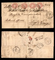 ANTICHI STATI - AUSTRIA TERRITORI ITALIANI - Pieve Di Livinallongo (P.ti 6) Su Quattro 5 Kreuzer (32) Lettera Per Lugo D - Francobolli