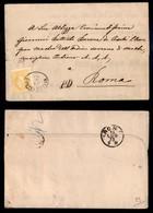 ANTICHI STATI - AUSTRIA TERRITORI ITALIANI - Mezzolombardo (P.ti 3) Su 2 Kreuzer (35) - Circolare Per Roma Del 12.7.73 - Francobolli