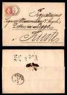 ANTICHI STATI - AUSTRIA TERRITORI ITALIANI - Castelnuovo In Dalmazia (oltremare-P.ti 4) Su 5 Kreuzer (37) - Lettera Per  - Non Classificati