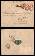 ANTICHI STATI - AUSTRIA TERRITORI ITALIANI - Trient + Kufstein Ala Fahrend Postamt N.7 (P.ti 7) Su Striscia Di Tre Del 5 - Francobolli