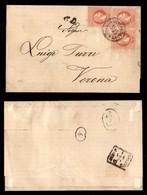 ANTICHI STATI - AUSTRIA TERRITORI ITALIANI - Kufstein Ala Fahrend Postamt N.15 (P.ti 6) Su Tre 5 Kreuzer (37) A Seggiola - Francobolli