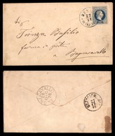 ANTICHI STATI - AUSTRIA TERRITORI ITALIANI - Denno In Sud Tirol (azzurro-P.ti 6) Su Busta Postale Da 10 Kreuzer Per Bagn - Francobolli