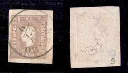ANTICHI STATI - AUSTRIA TERRITORI ITALIANI - 1858 - Per Giornali - 1,05 Kreuzer (17) Usato A Parenzo - Cert. Raybaudi - Non Classificati