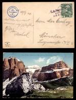 ANTICHI STATI - AUSTRIA TERRITORI ITALIANI - Arabba (P.ti 6) - Cartolina A Colori (Pordoi E Boe) Per Monaco Del 10.9.10 - Francobolli